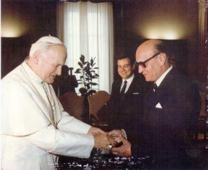 Jan Paweł II i Radosław Ostrowicz