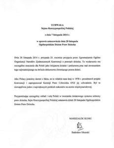 Uchwała Sejmu